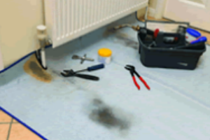 Power flushing a central heating system in Manchester