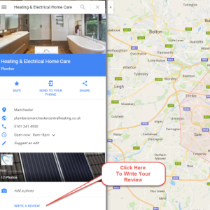 Google Map Page Heating and Electrical Homecare