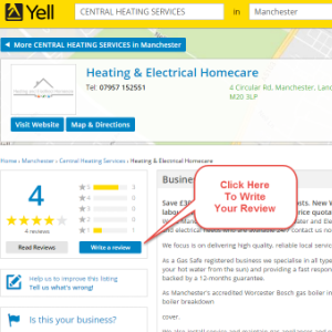 Yell Page for Heating and Electrical Homecare